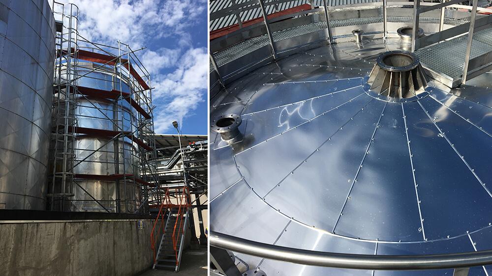 Izolacja termiczna zbiornika wełną mineralną - Żary